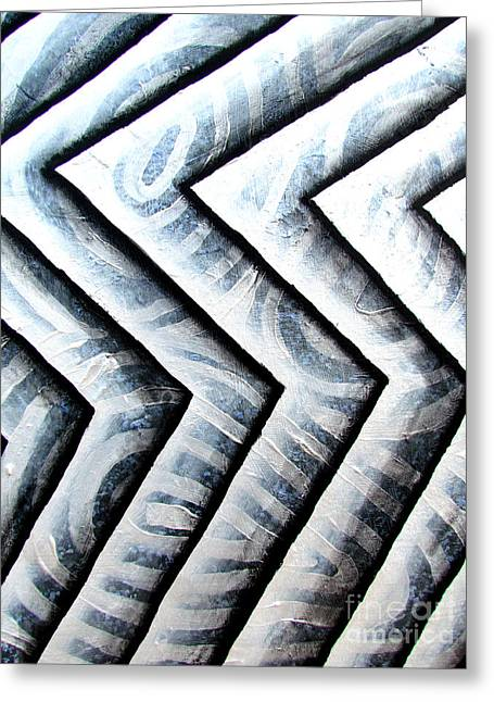 Silver Glass Waves Study 1  Greeting Card