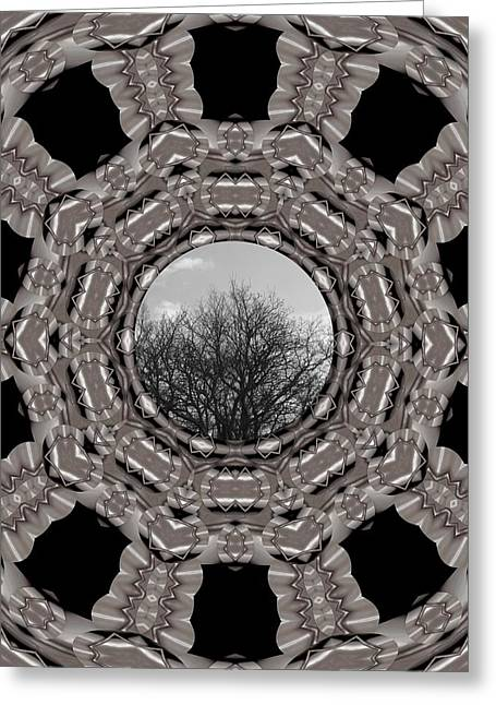 Silver Idyl Greeting Card by Pepita Selles