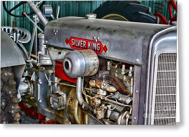 Silver King Tractor Greeting Card by Paul Ward