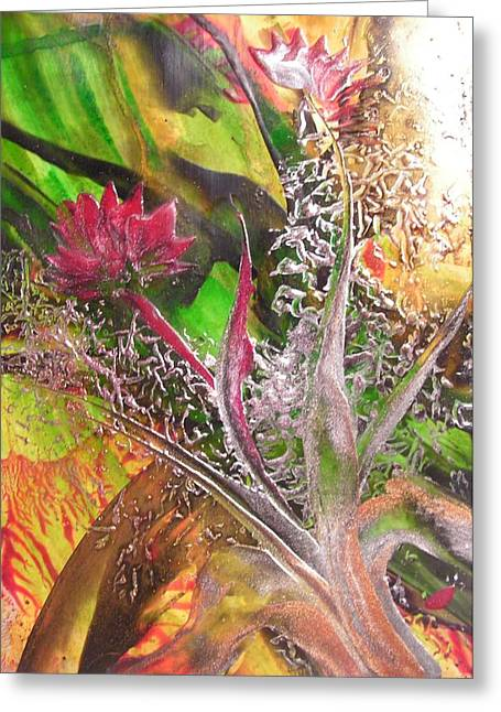 Silver Lace Greeting Card by John Vandebrooke