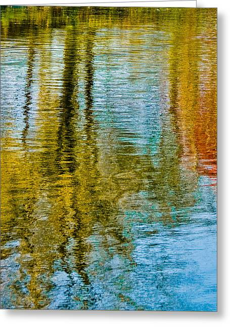 Silver Lake Autum Tree Reflections Greeting Card