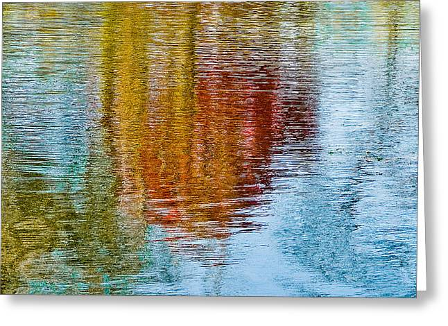 Silver Lake Autumn Reflections Greeting Card