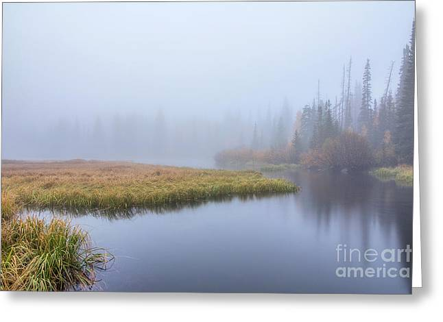 Silver Lake In The Clouds Greeting Card