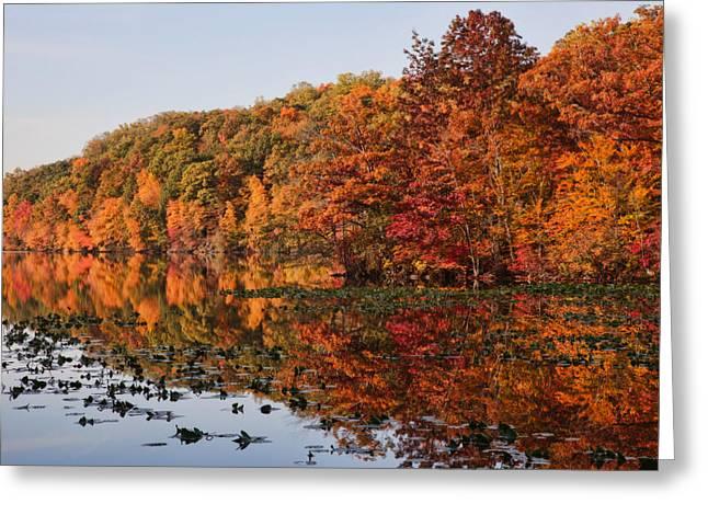 Silver Lake Reflections Greeting Card