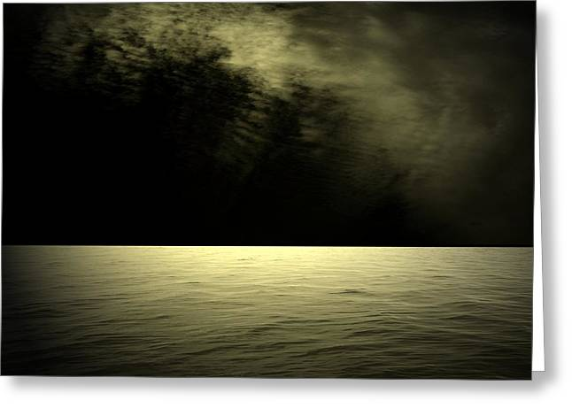 Silver Light Greeting Card by Juana Maria Garcia-Domenech