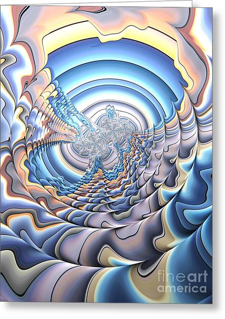 Silver Lining Greeting Card by John Edwards