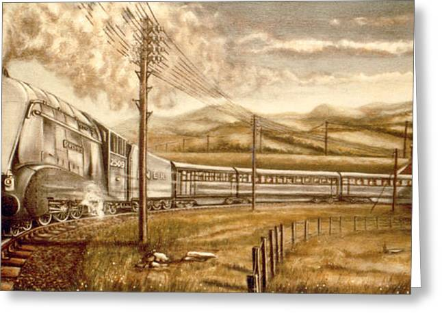 Silver Link Steam Locomotive L.n.e.r.   25o9 Greeting Card by James Richardson