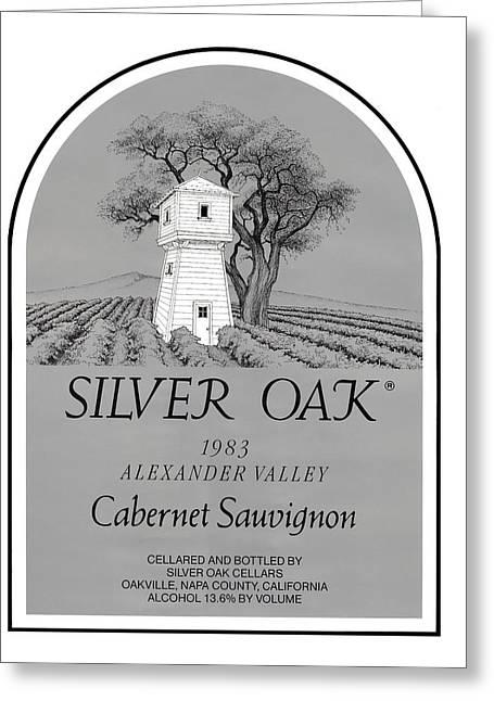 Silver Oak Wine  Greeting Card by David Davis