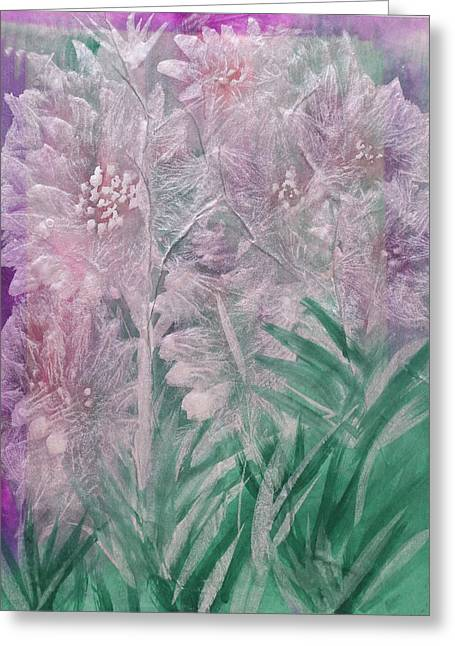 Silver Opulence Greeting Card
