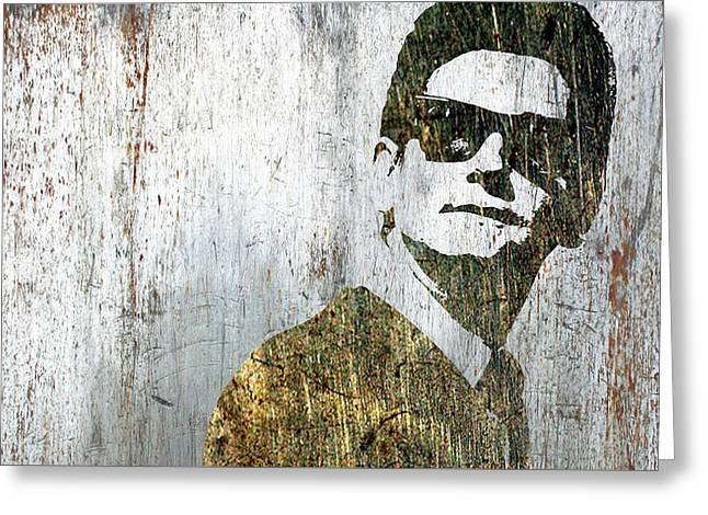 Silver Roy Orbison Greeting Card