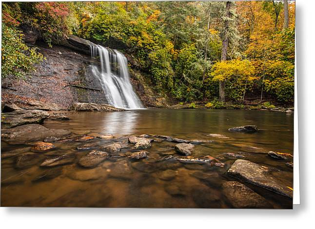 Silver Run Falls Nantahala National Forest North Carolina Greeting Card