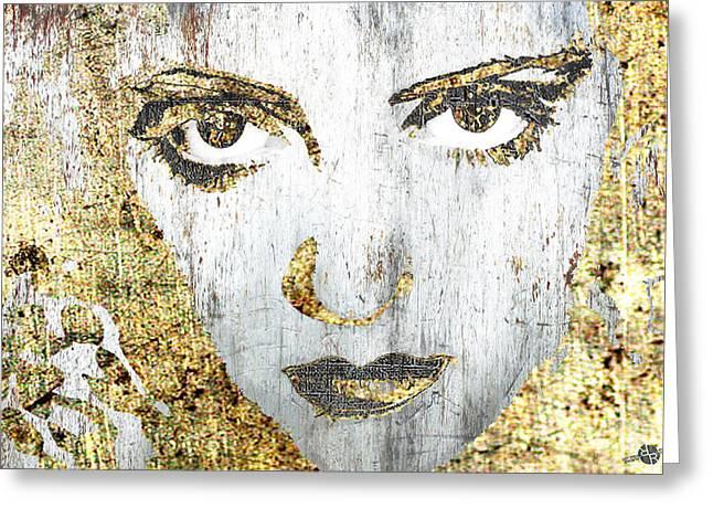 Silver Screen Bette Davis 1 Greeting Card