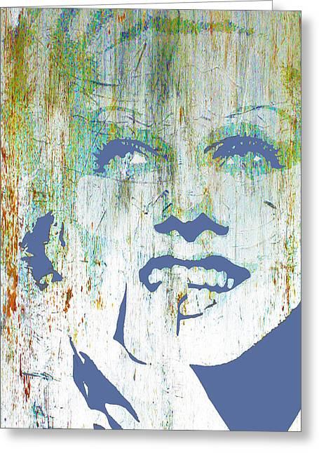 Silver Screen Jean Harlow  Greeting Card