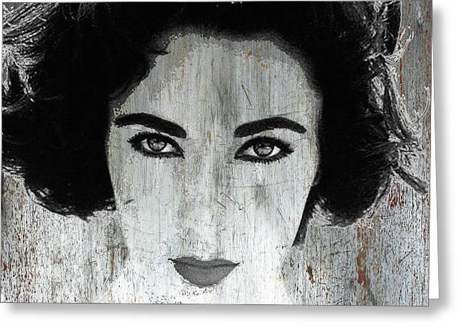 Silver Screen Liz Taylor Greeting Card