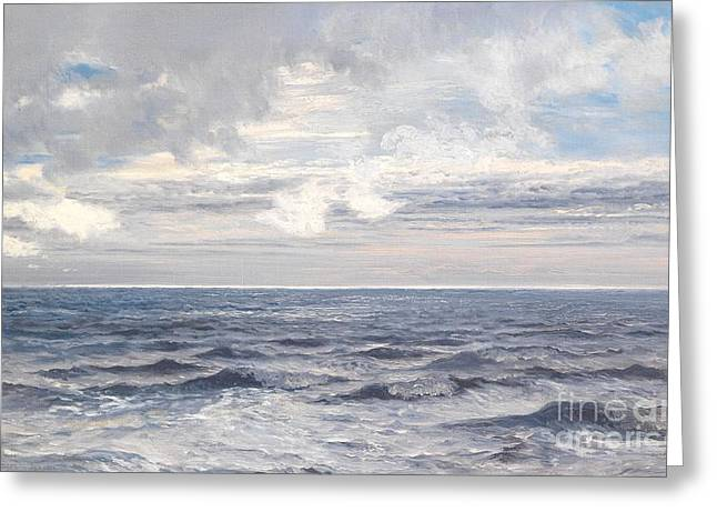 Sky High Greeting Cards - Silver Sea Greeting Card by Henry Moore