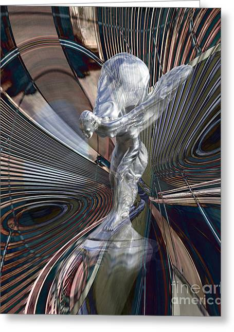 Silver Shadow Greeting Card by Chuck Brittenham