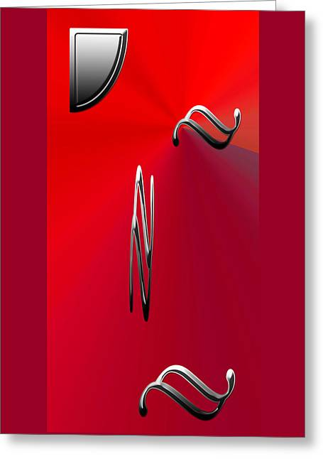 Silver Shapes On Red Greeting Card by Aimee L Maher Photography and Art Visit ALMGallerydotcom