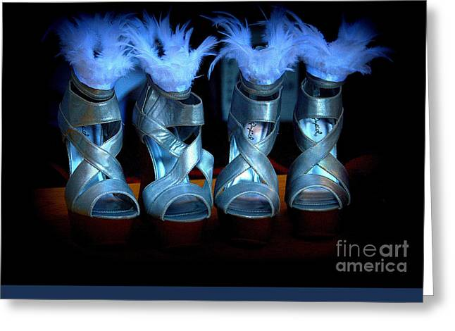 Silver Slippers Greeting Card