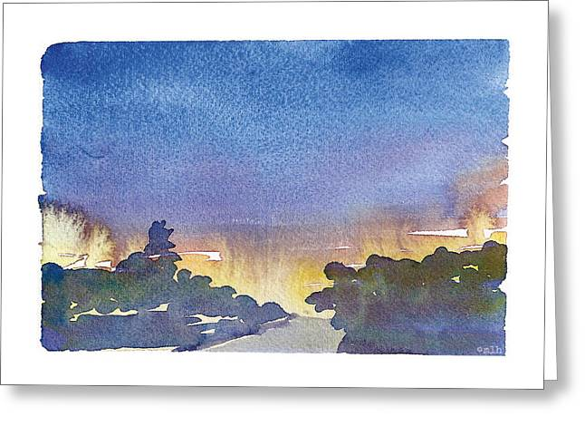 Silver Spring Sunrise Greeting Card by Meagan Healy