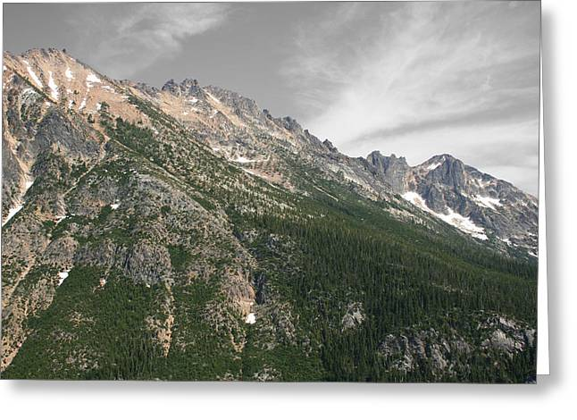 Silver Star Mountain Greeting Card by Dylan Punke
