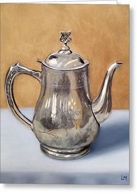 Silver Teapot Greeting Card