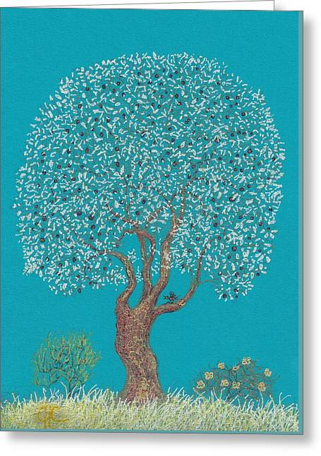 Silver Tree Greeting Card by Charles Cater