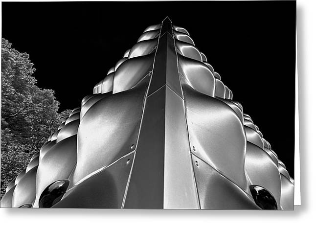 Silver Triangle Greeting Card by Louis Dallara