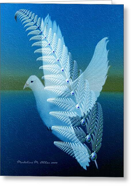 Silver-wing Greeting Card by Madeline  Allen - SmudgeArt