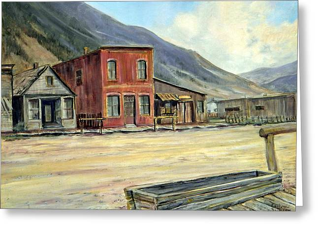 Silverton Colorado Greeting Card by Evelyne Boynton Grierson