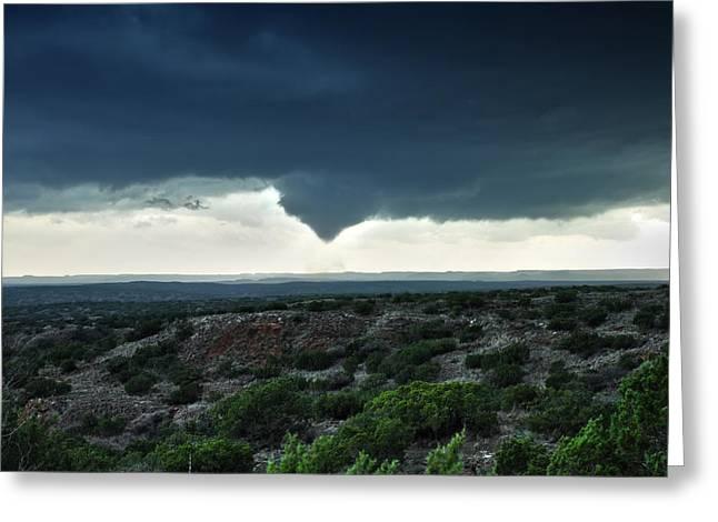 Silverton Texas Tornado Forms Greeting Card