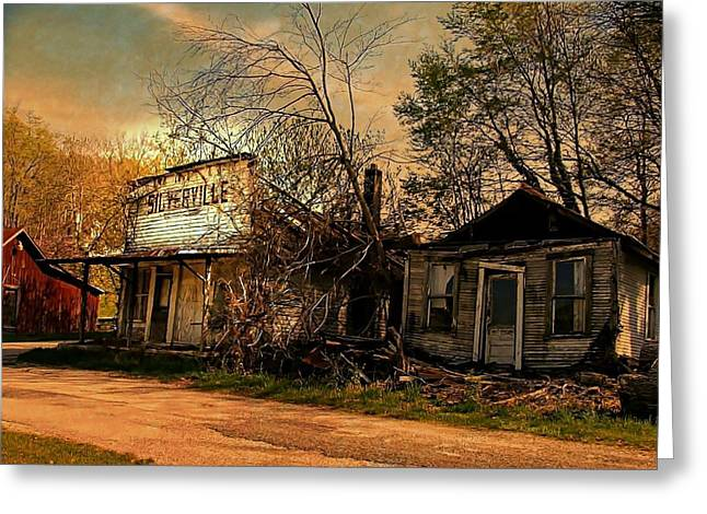 Silverville Ghost Town In Browns Greeting Card by Julie Dant