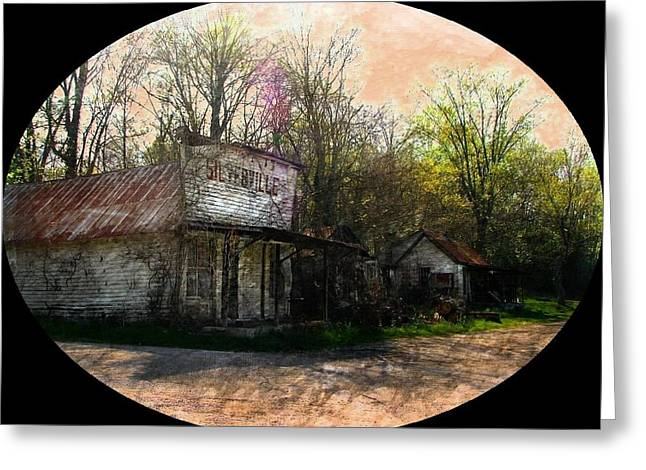 Silverville Ghost Town Greeting Card by Julie Dant