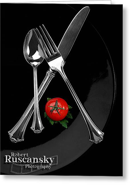 Silverware Greeting Card by Robert Ruscansky
