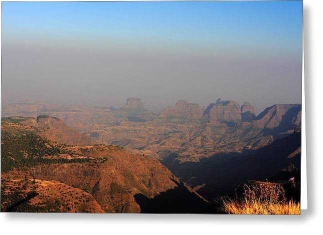 Simien Mountains At Sunset, Ethiopia Greeting Card