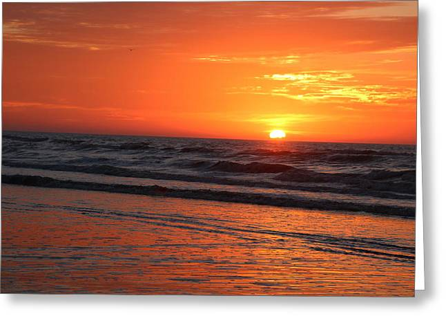 Simmering Sunset Greeting Card