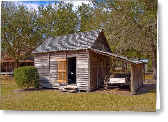 Simmons Cabin Built In 1873 In Orange County Florida Greeting Card by Allan  Hughes