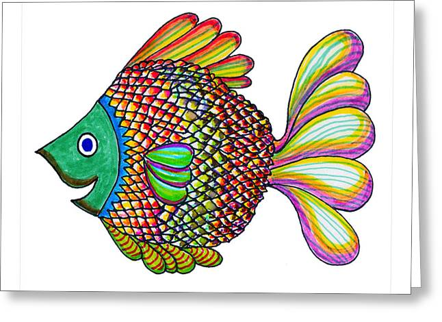 Simon Fish Greeting Card by Ed Brodsky