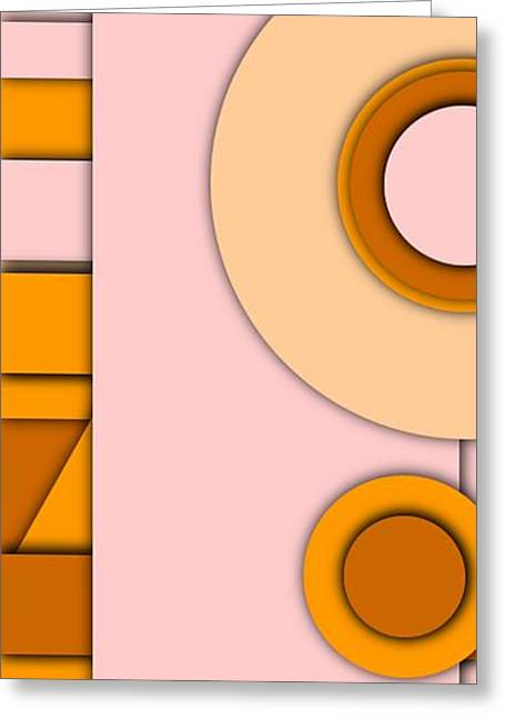 Simple Abstract 3 Greeting Card by Chris Butler