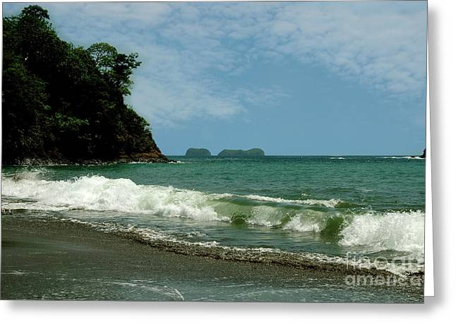 Simple Costa Rica Beach Greeting Card
