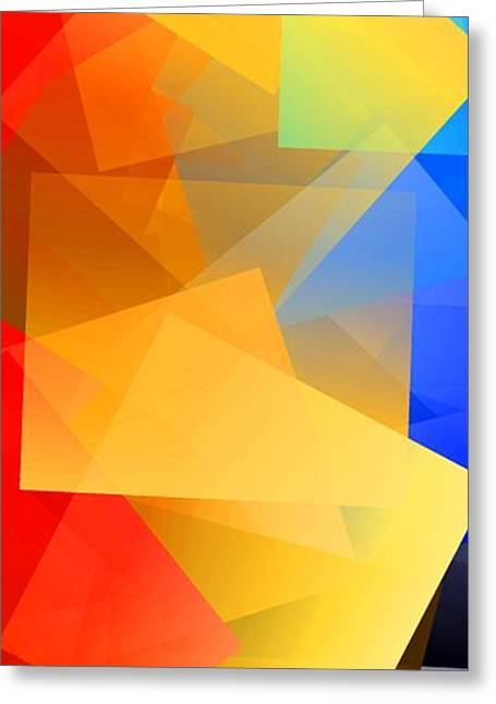 Simple Cubism 15 Greeting Card