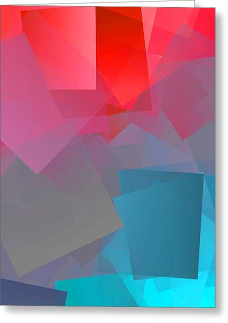 Simple Cubism Abstract 149 Greeting Card