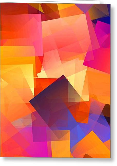 Simple Cubism Abstract 71 Greeting Card