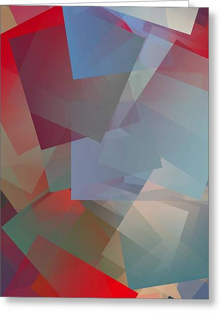 Simple Cubism Abstract 92 Greeting Card