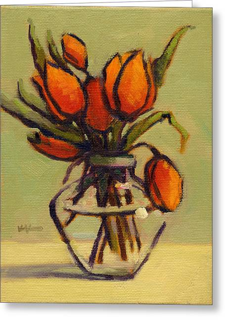 Greeting Card featuring the painting Simple Elegance by Konnie Kim