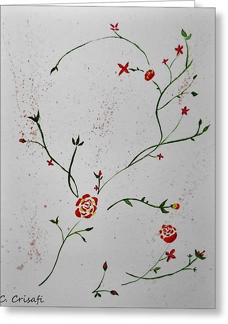 Simple Flowers #1 Greeting Card
