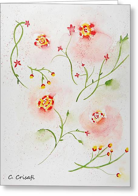 Simple Flowers #2 Greeting Card by Carol Crisafi
