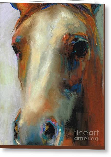 Simple Horse Greeting Card by Frances Marino