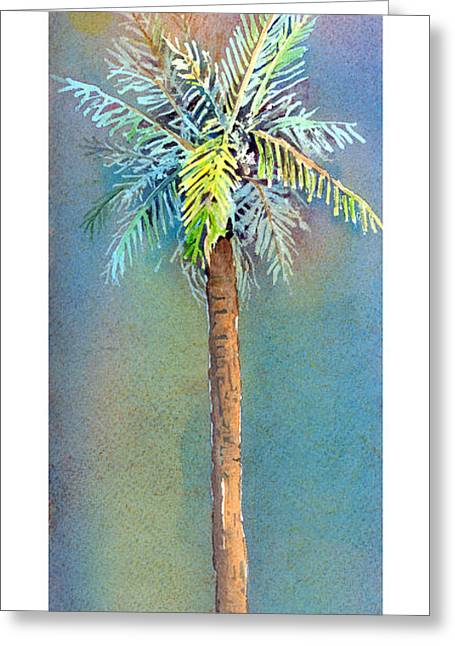 Simple Palm Tree Greeting Card