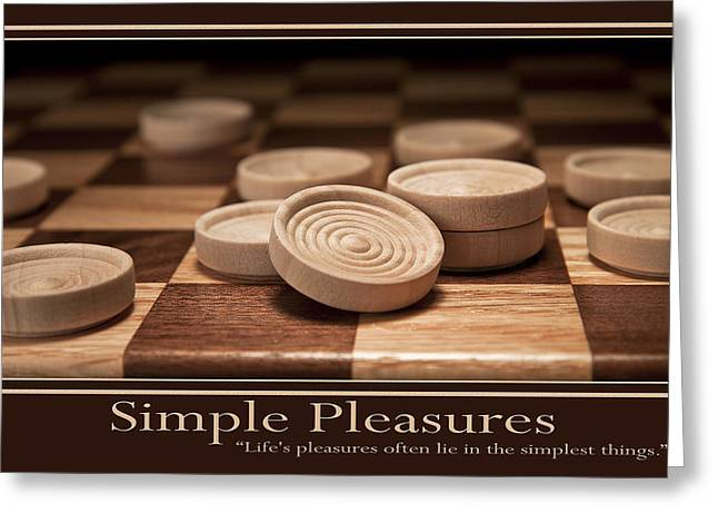 Motivational Poster Greeting Cards - Simple Pleasures Poster Greeting Card by Tom Mc Nemar