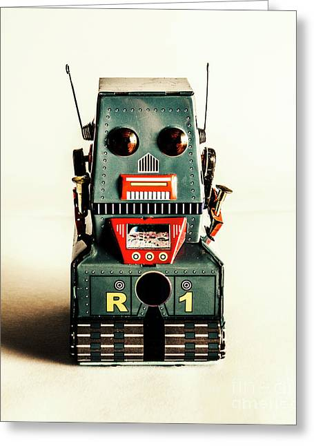 Simple Robot From 1960 Greeting Card